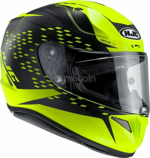 HJC RPHA 11 Oraiser MC4HSF Fluorescent Yellow Full Face Helmet
