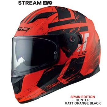 L22 FF328 Stream Evo Hunter Matt Fluorescent Orange Black Full Face Helmet 1
