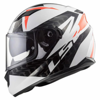 LS2 FF328 Stream Evo Commander Matt White Black Red Full Face Helmet