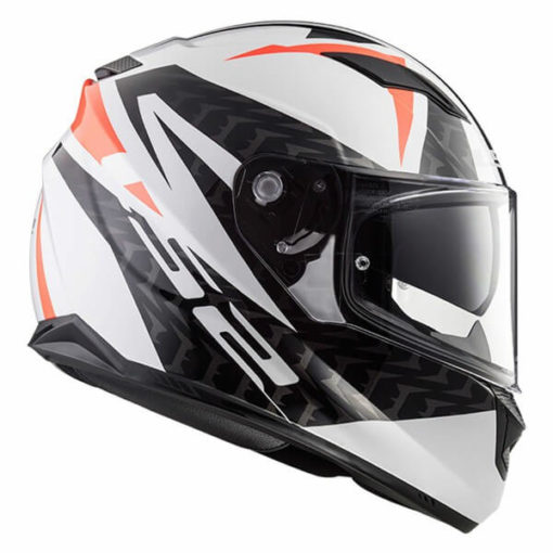 LS2 FF328 Stream Evo Commander Matt White Black Red Full Face Helmet 4