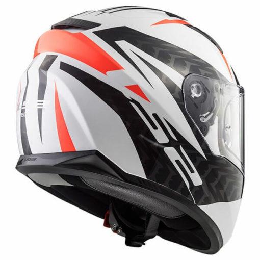 LS2 FF328 Stream Evo Commander Matt White Black Red Full Face Helmet 5