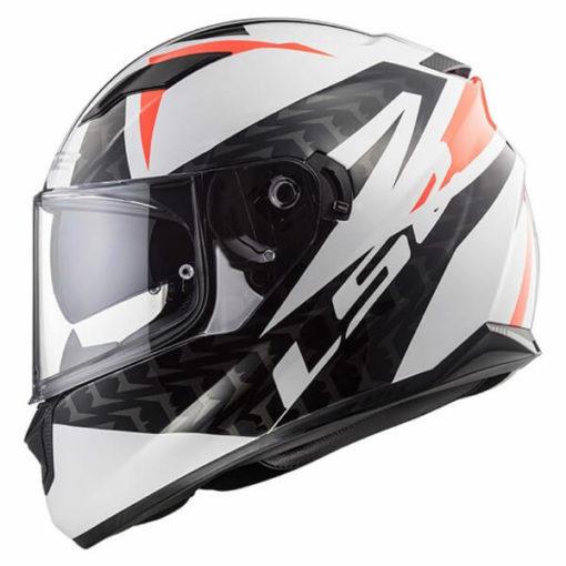LS2 FF328 Stream Evo Commander Matt White Black Red Full Face Helmet