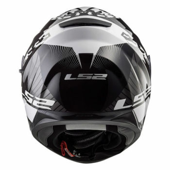 LS2 FF328 Stream Evo Hype Matt Black White Titanium Full Face Helmet 3