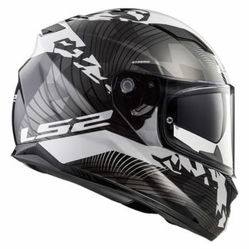 LS2 FF328 Stream Evo Hype Matt Black White Titanium Full Face Helmet 4