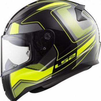 LS2 FF353 Rapid Carrera Matt Black H V Yellow Full Face Helmet 1
