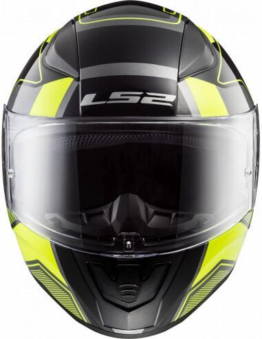 LS2 FF353 Rapid Carrera Matt Black H V Yellow Full Face Helmet 2