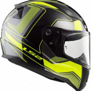 LS2 FF353 Rapid Carrera Matt Black H V Yellow Full Face Helmet 3