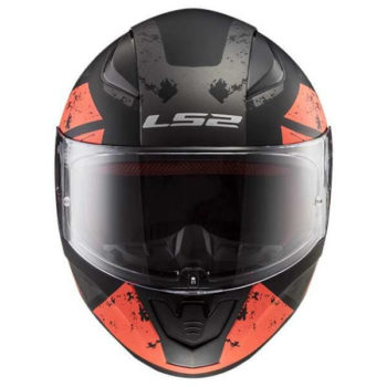LS2 FF353 Rapid Deadbolt Matt Black Orange Full Face Helmet 2