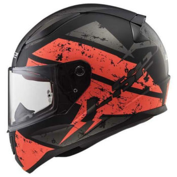 LS2 FF353 Rapid Deadbolt Matt Black Orange Full Face Helmet