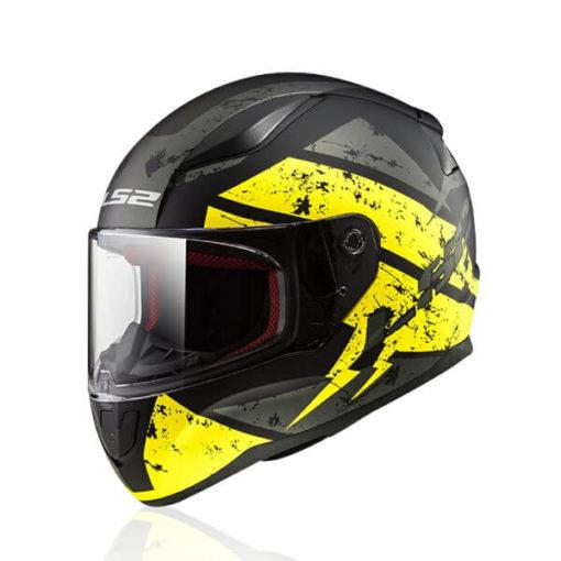 LS2 FF353 Rapid Deadbolt Matt Black Yellow Full Face Helmet