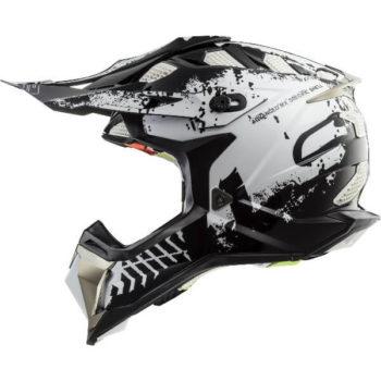 LS2 MX470 Subverter Intruder Matt Black White Full Face Helmet