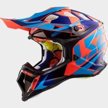 LS2 MX470 Subverter Nimble Black Blue Orange Full Face Helmet