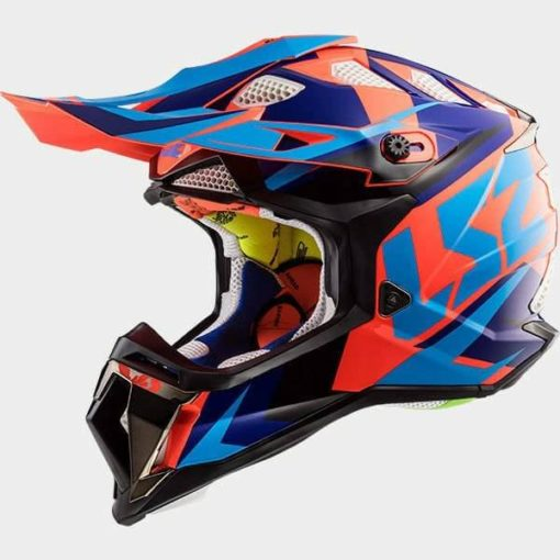 LS2 MX470 Subverter Nimble Black Blue Orange Full Face Helmet