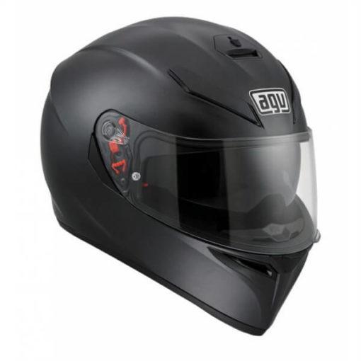 Agv K 3 Sv Matt Black Solid Plk Full Face Helmet 1