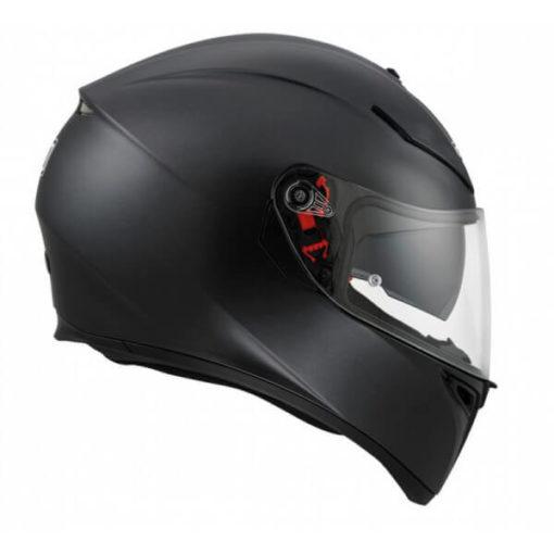 Agv K 3 Sv Matt Black Solid Plk Full Face Helmet 2