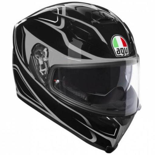 Agv K 5 S Gloss Black Grey Magnitube Full Face Helmet