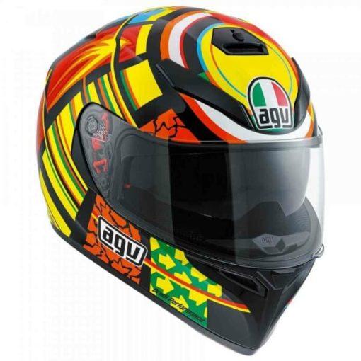Agv K 3 Sv Top Plk Elements Gloss Red Orange Yellow Black Full Face Helmet 1