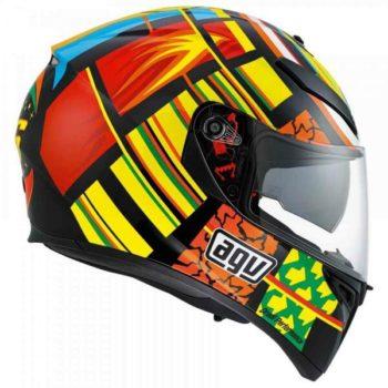 Agv K 3 Sv Top Plk Elements Gloss Red Orange Yellow Black Full Face Helmet 2