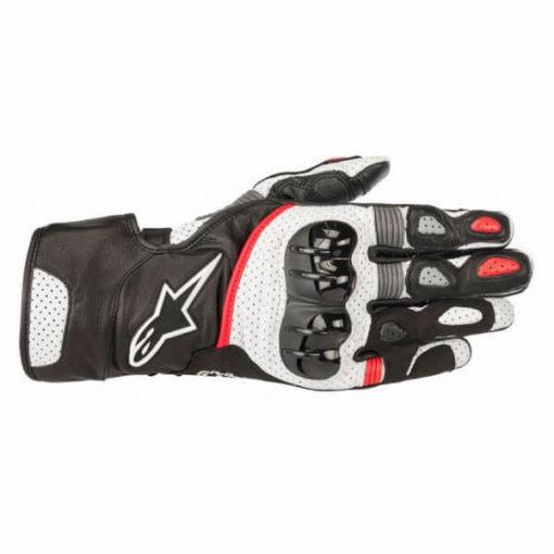 Alpinestars Sp 2 V2 Leather Black White Red Gloves 1