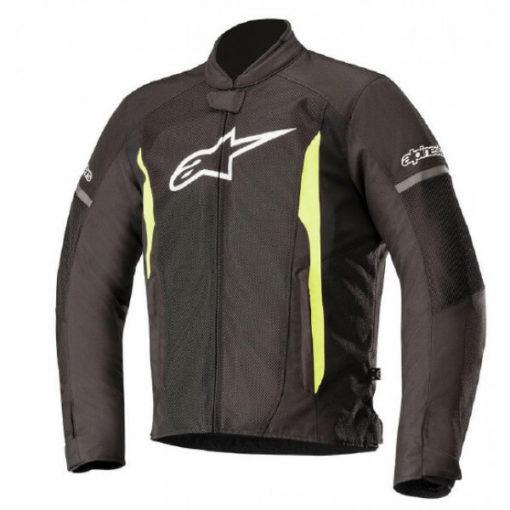 Alpinestars T Faster Air Black Yellow Jacket 1