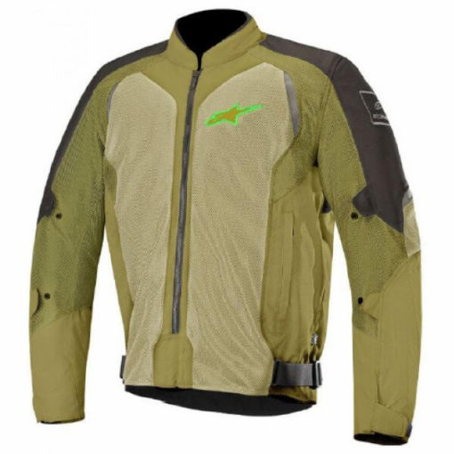 Alpinestars Wake Air Black Olive Green Jacket 1