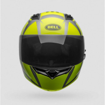 Bell Qualifier Blaze Gloss Black Fluorescent Yellow Fullface Helmet 1