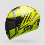 Bell Qualifier Blaze Gloss Black Fluorescent Yellow Fullface Helmet 2