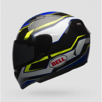 Bell Qualifier Torque Gloss Blue Fluorescent Yellow Fullface Helmet 2