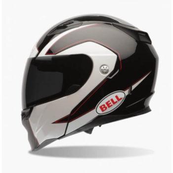 Bell Revolver Evo Ghost Gloss Black White Flipup Helmet 1