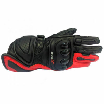 DSG Evo Pro Black Red Riding Gloves