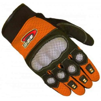 DSG Motomesh Orange Black Riding Gloves