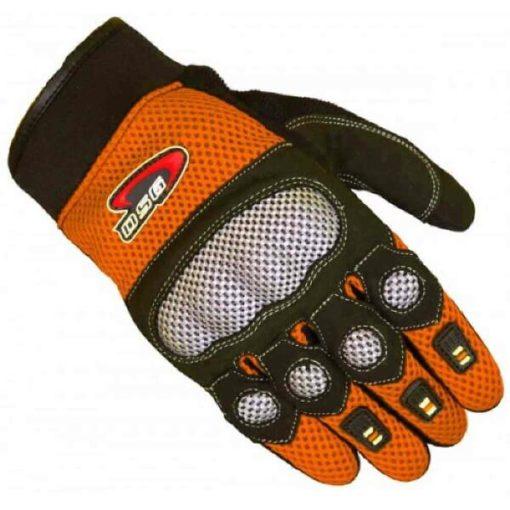 DSG Motomesh Orange Black Riding Gloves