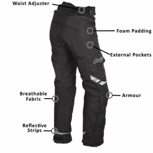 DSG Nero Waterproof Black Riding Pants 5