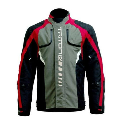 DSG Triton X Black Grey Red Riding Jackets 1