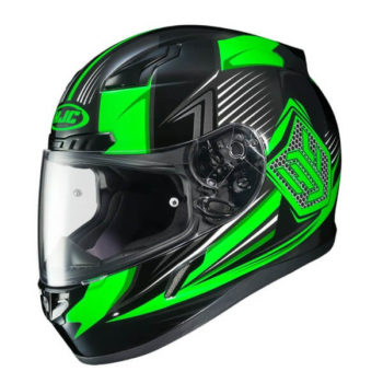 Hjc Cl 17 Striker Mc4H Black Green Full Face Helmet