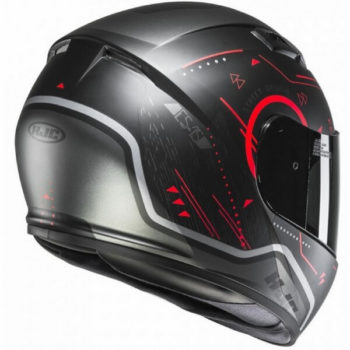 Hjc Cs 15 Safa Mc1Sf Gloss Black Red Full Face Helmet Helmet 3