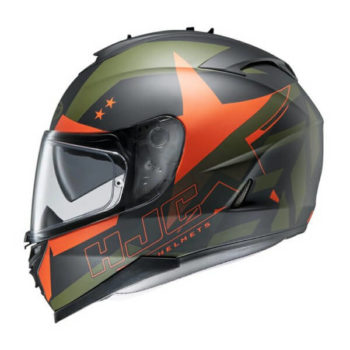 Hjc Is 17 Armada Mc7F Gloss Black Orange Green Full Face Helmet