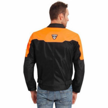 Leiidor Vauxhall Black Orange Jacket 2