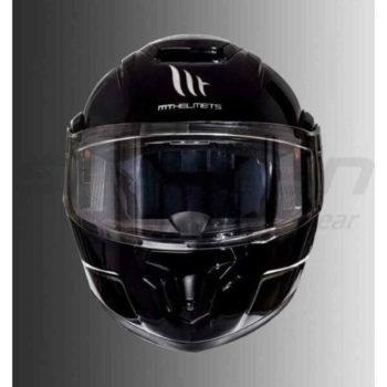 Mt Atom Sv Solid Gloss Black Flip Up Helmet 1