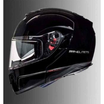 Mt Atom Sv Solid Gloss Black Flip Up Helmet 2