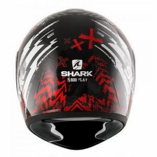 Shark S600 Pinlock Play Gloss Full Face Black Grey Red Full Face Helmet 2