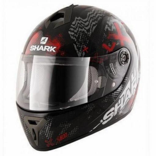 Shark S600 Pinlock Play Gloss Full Face Black Grey Red Full Face Helmet 3