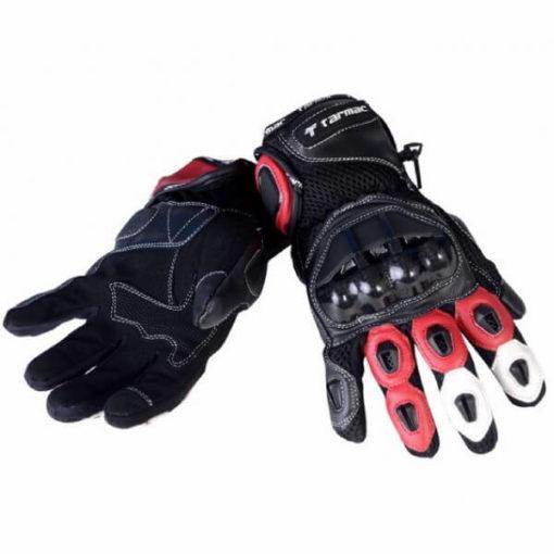 Tarmac Vento 2 Red Black White Gloves 1