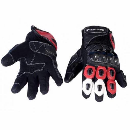 Tarmac Vento 2 Red Black White Gloves 2