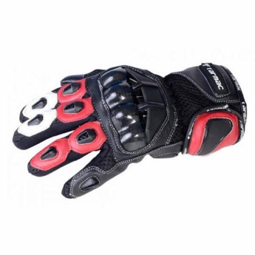 Tarmac Vento 2 Red Black White Gloves 3
