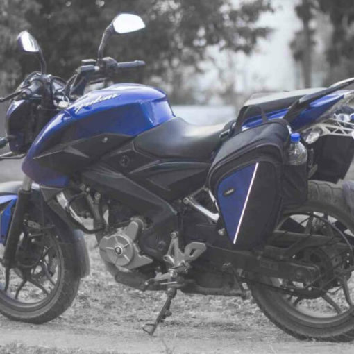 Viaterra Wolf Black Saddlebags For Bajaj Pulsars 3