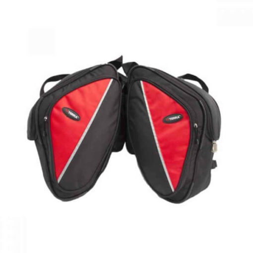 Viaterra Wolf Red Saddlebags For Bajaj Pulsars 1