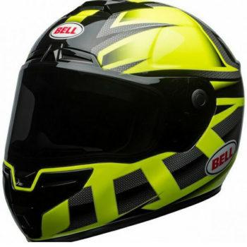 bell str predator hi viz gloss helmet green black 7