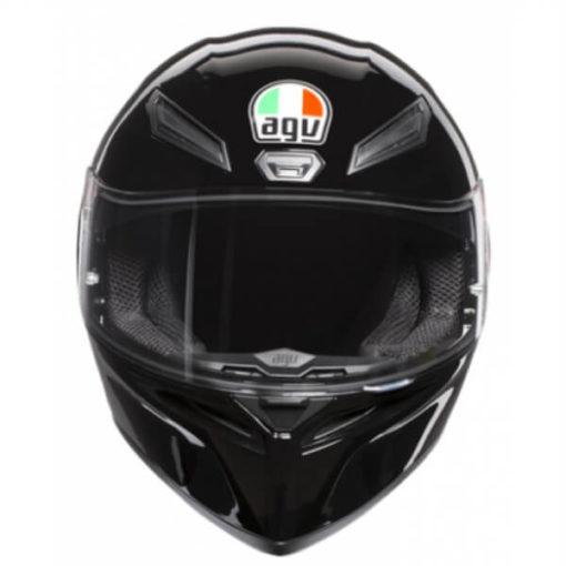 AGV K 1 Solid Gloss Black Full Face Helmet 2