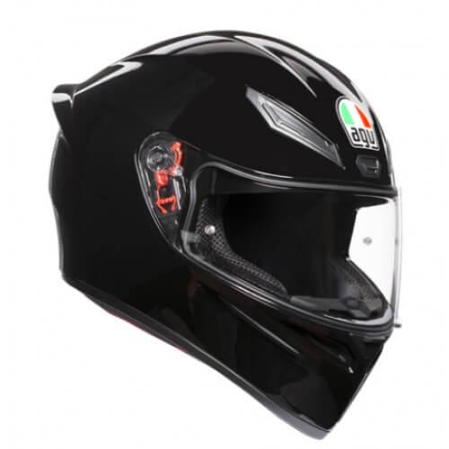 AGV K 1 Solid Gloss Black Full Face Helmet